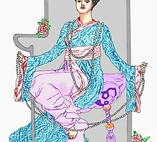 China Rose & Pearls by redqueenself