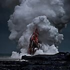 Kilauea Volcano at Kalapana 2a by Alex Preiss