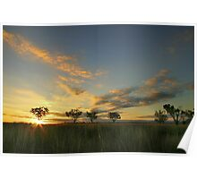 Sunset 'Willow Bend' Manilla NSW Poster
