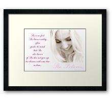 ~ She Believes ~ Framed Print