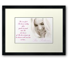 ~ She Believes ~ Framed Print