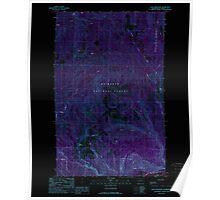 USGS Topo Map Washington State WA Sauk Mountain 243587 1989 24000 Inverted Poster