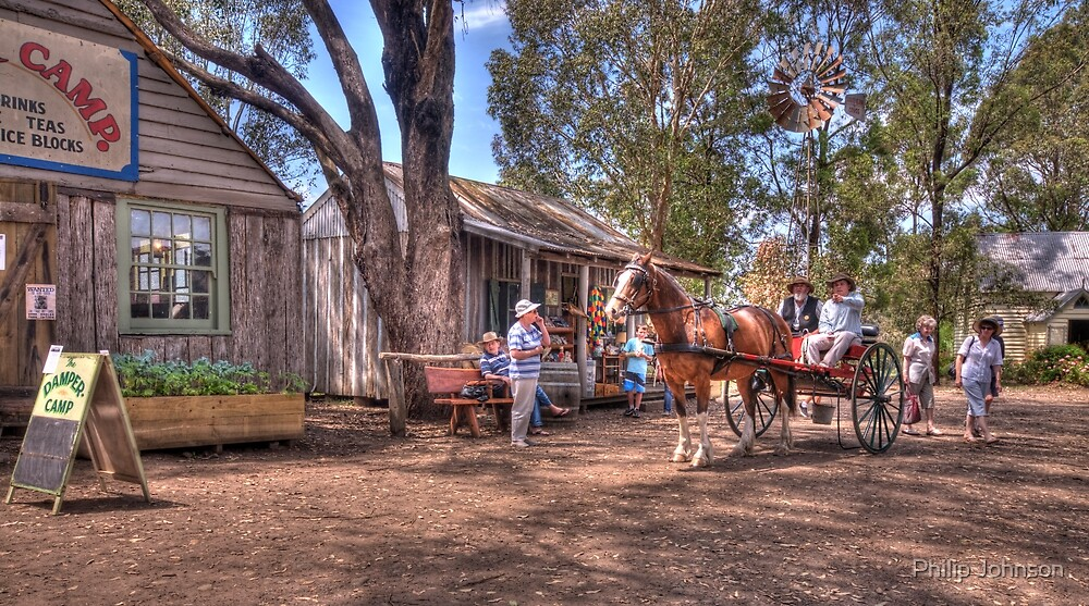 Main Street - Australian Pioneer Village,Wilberforce - The HDR Experience by Philip Johnson