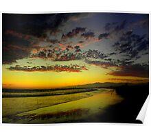 A Splattering of Sunset Poster