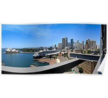 Circular Quay Sydney Opera House Panorama Poster