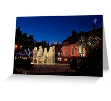 Carlisle Town Centre at Christmas Time Greeting Card