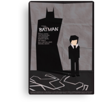 Batman 1989 - Saul Bass Inspired Poster Canvas Print