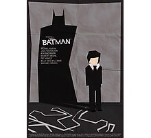 Batman 1989 - Saul Bass Inspired Poster Photographic Print