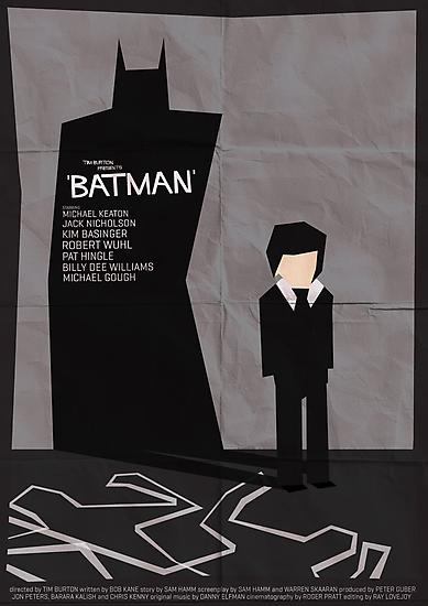 Batman 1989 - Saul Bass Inspired Poster by Alex Clark