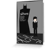 Batman 1989 - Saul Bass Inspired Poster (Untextured) Greeting Card