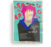 Scott Pilgrim Verses The World - Saul Bass Inspired Poster Metal Print