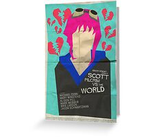 Scott Pilgrim Verses The World - Saul Bass Inspired Poster Greeting Card