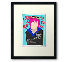 Scott Pilgrim Verses The World - Saul Bass Inspired Poster (Untextured) Framed Print
