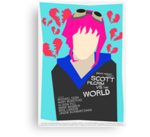 Scott Pilgrim Verses The World - Saul Bass Inspired Poster (Untextured) Canvas Print