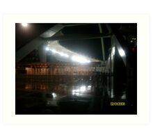 Durban Moses Mabhida Stadium at Night Art Print