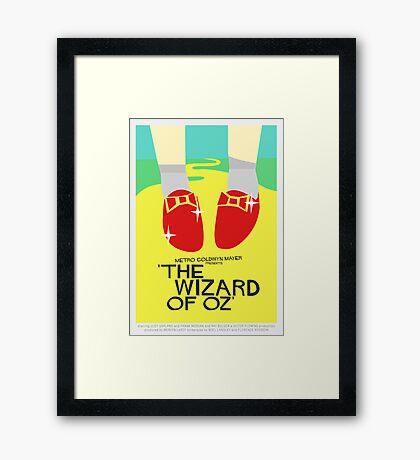 Wizard Of Oz - Saul Bass Inspired Poster (Untextured) Framed Print
