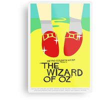 Wizard Of Oz - Saul Bass Inspired Poster (Untextured) Metal Print