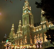 Christmas Market with City hall by amira
