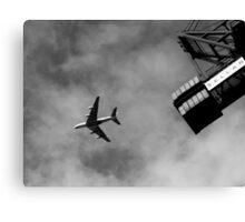 Plane & Crane Canvas Print