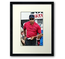 Tiger Wood Framed Print