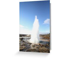 Geyser Iceland ~ the one that gave us the name Geyser Greeting Card