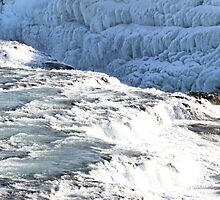 Water and Ice ~ Gullfoss Water Fall Iceland by albyw
