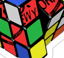 rubiks by rogers bros Sticker