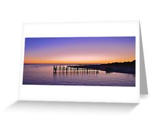 BOAT RAMP AT DAWN Greeting Card