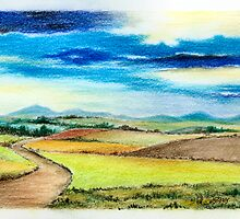 Path in The Hills Of South Limburg in The Fall - Aqurel by RainbowArt