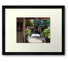 Open window - open invitation Framed Print