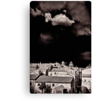 Cloud over Tuscania village, Italy. Canvas Print
