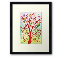 Dream Tree - Brush And Gouache Framed Print