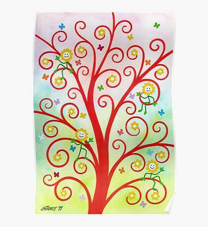 Dream Tree - Brush And Gouache Poster