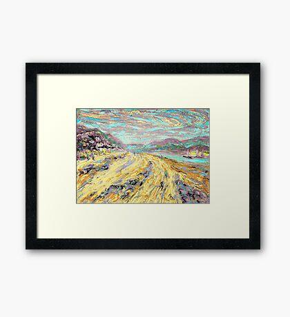 Sandy beach in Aberdyfi / Aberdovey, Wales, UK Framed Print