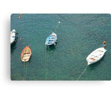Barche dall'alto Canvas Print