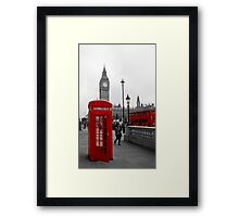 London Red Telephone box and Bus Framed Print