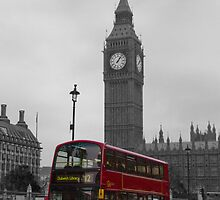 London red bus and Big Ben by DavidFrench