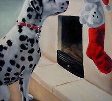 Christmas Is Coming! (Christmas card with greeting on front) by Anne Zoutsos
