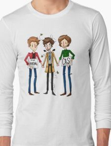 Stop Hurting Cas - Team Free Will Long Sleeve T-Shirt