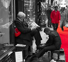Shoeshine boy by DavidFrench