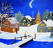 Cold winter night  by maggie326