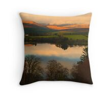 The Lake in November Throw Pillow