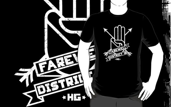Farewell District 12 - white logo by FAMOUSAFTERDETH