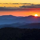 Sunset from Clingman's Dome - Great Smoky Mountains by Dave Allen