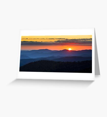 Sunset from Clingman's Dome - Great Smoky Mountains Greeting Card