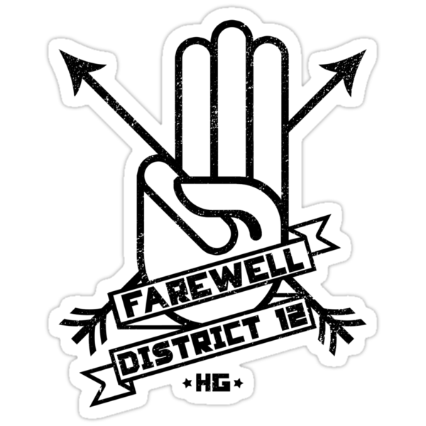 Farewell District 12 - full logo distressed by FAMOUSAFTERDETH