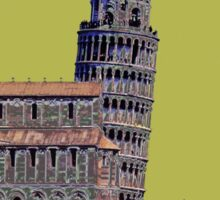 Leaning Tower of Pisa Retro Travel Sticker