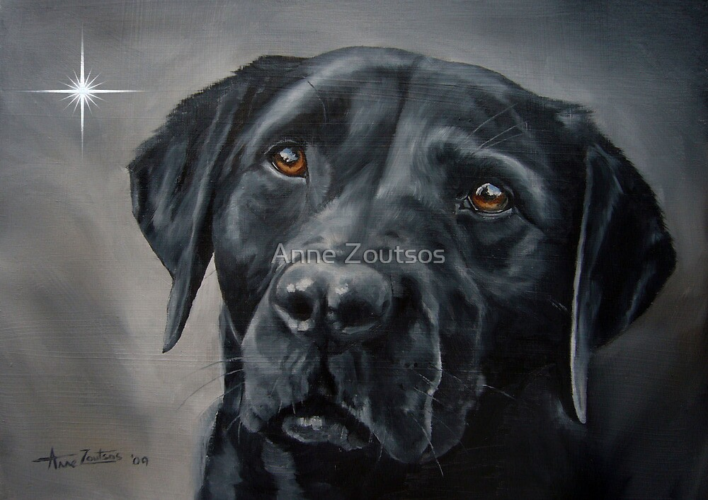 Black Beauty (Christmas card) by Anne Zoutsos