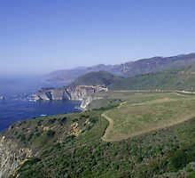 California coastline by SANDRA BROWN
