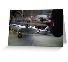 Spitfire F24 VN485'  former Hong Kong Auxiliary Air Force Greeting Card
